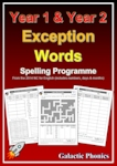 Year 1 and Year 2 Exception Word Spelling Programme