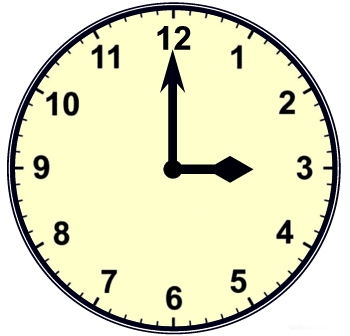 Image result for 3 o'clock
